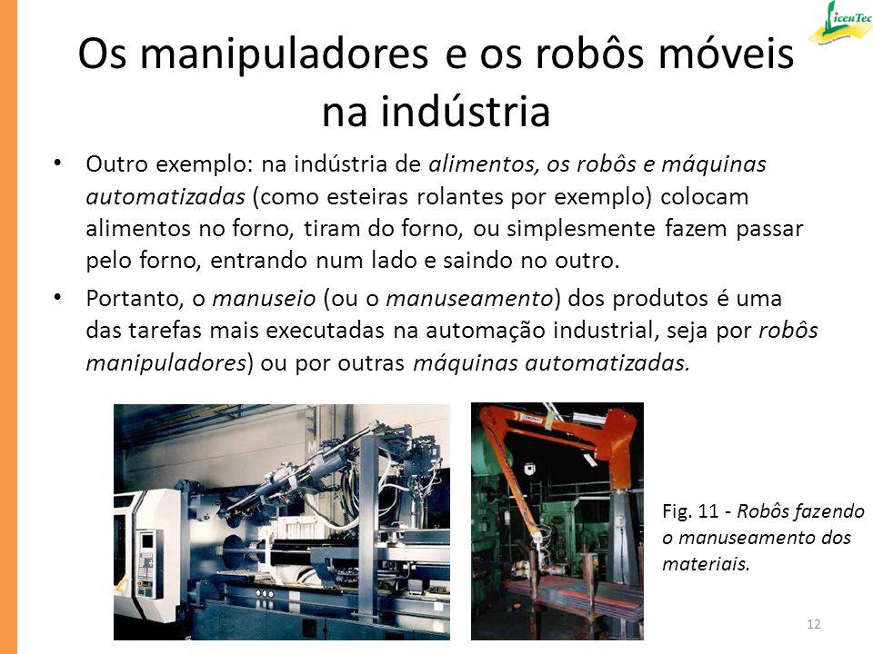 Os manipuladores e os robôs móveis na indústria