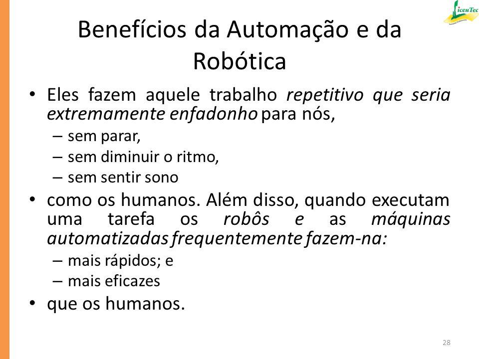 Benefícios da Automação e da Robótica