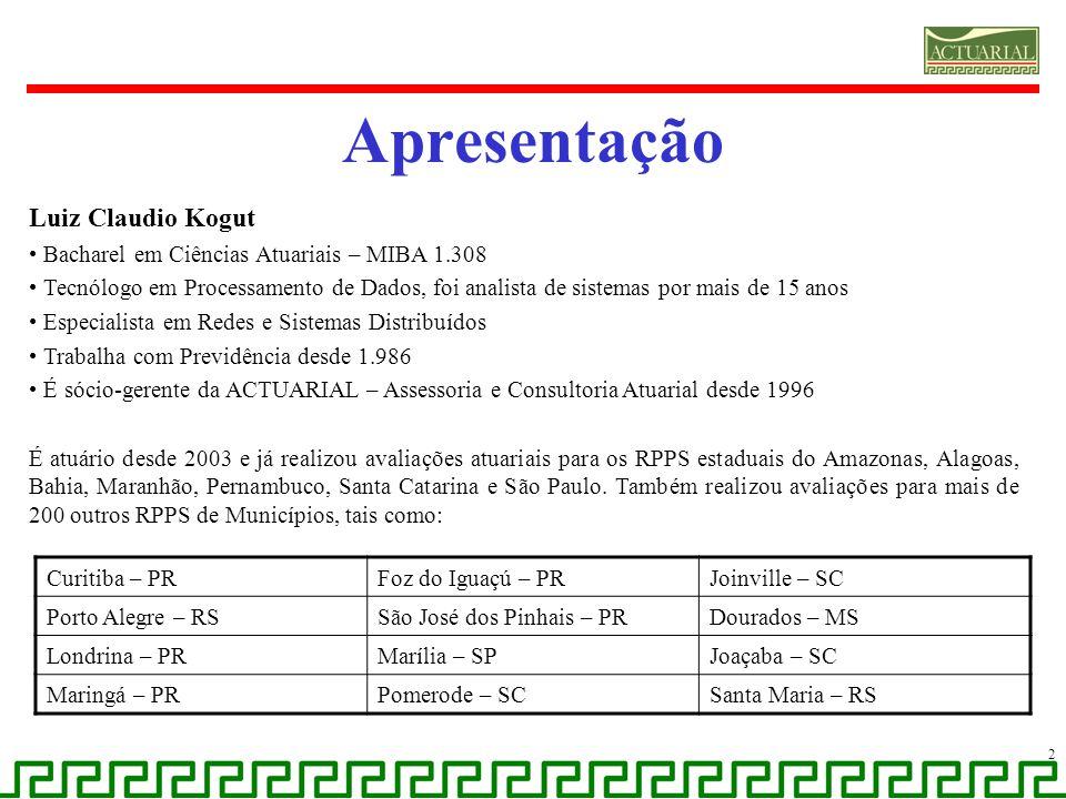Apresentação Luiz Claudio Kogut