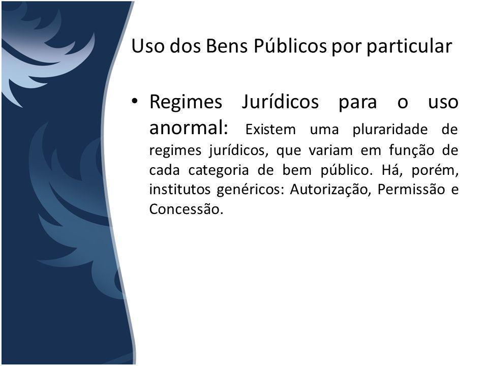 Uso dos Bens Públicos por particular