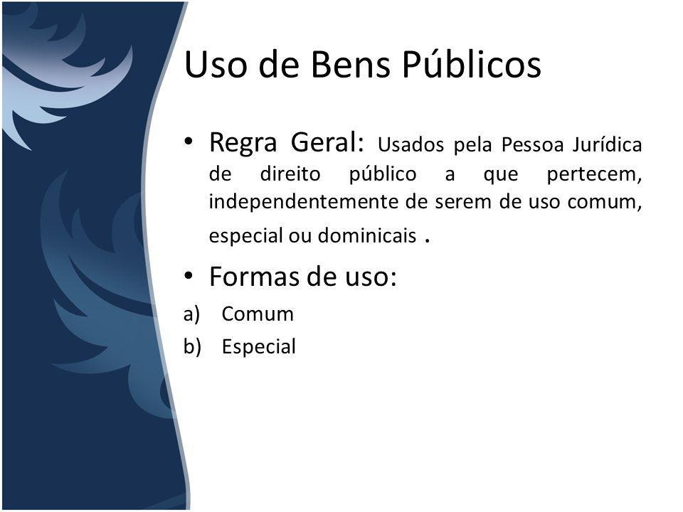 Uso de Bens Públicos