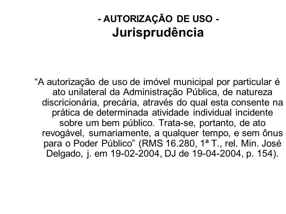 - AUTORIZAÇÃO DE USO - Jurisprudência