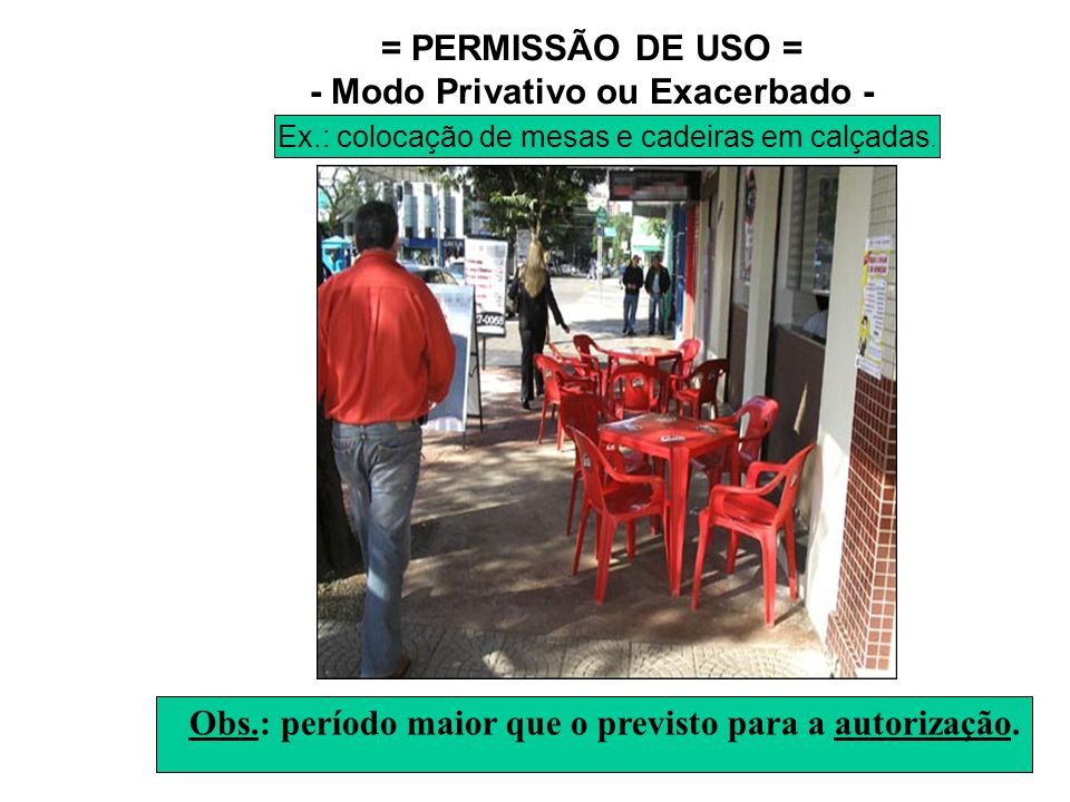 = PERMISSÃO DE USO = - Modo Privativo ou Exacerbado -