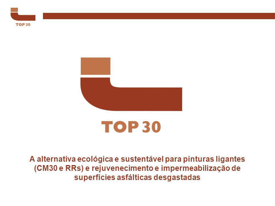 A alternativa ecológica e sustentável para pinturas ligantes (CM30 e RRs) e rejuvenecimento e impermeabilização de superfícies asfálticas desgastadas