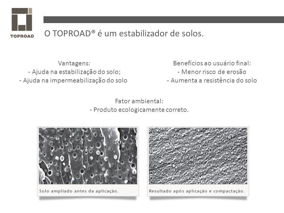 O TOPROAD® é um estabilizador de solos.