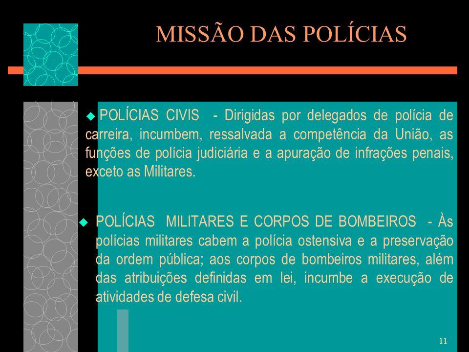 MISSÃO DAS POLÍCIAS