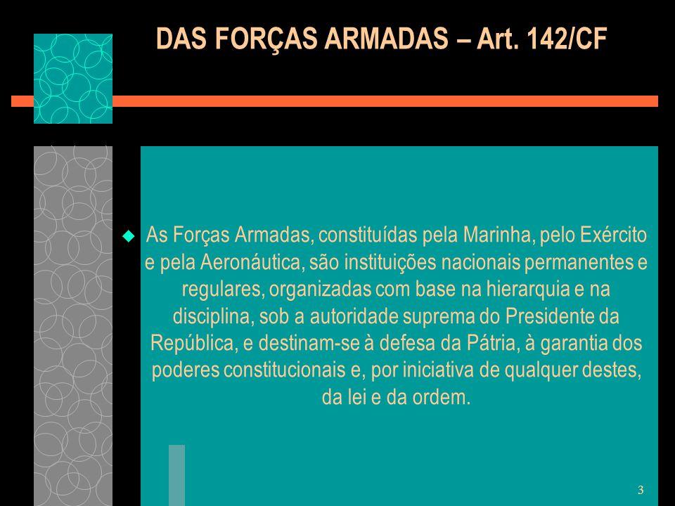 DAS FORÇAS ARMADAS – Art. 142/CF