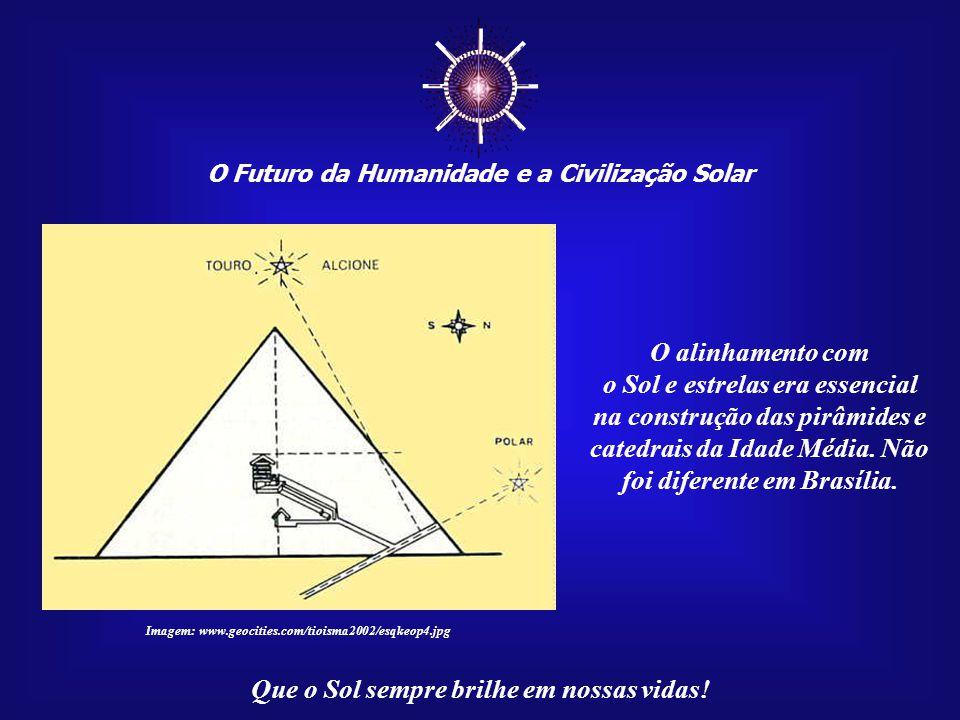 ☼ O Futuro da Humanidade e a Civilização Solar. O alinhamento com. o Sol e estrelas era essencial na construção das pirâmides e.
