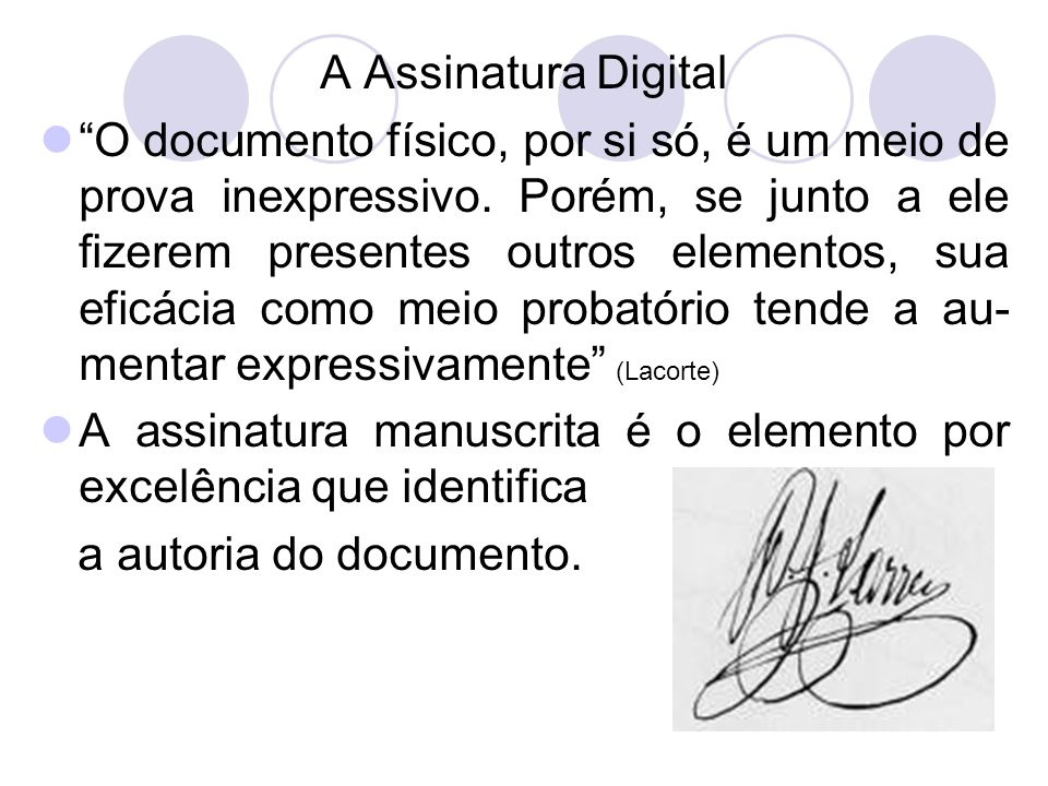 A Assinatura Digital