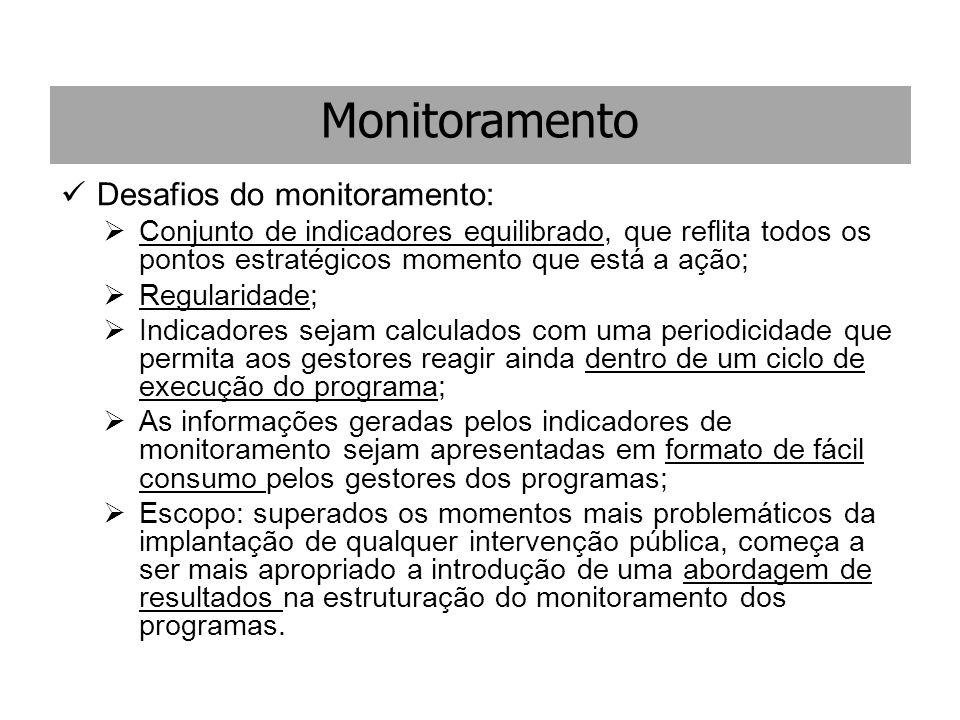 Monitoramento Desafios do monitoramento: