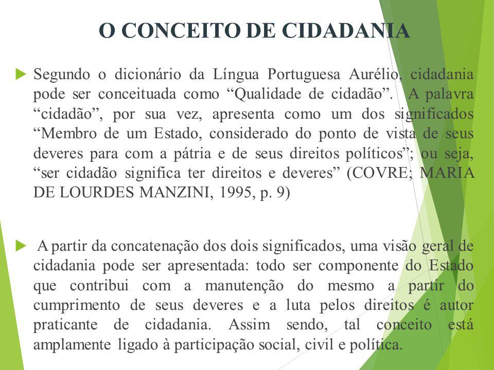 O CONCEITO DE CIDADANIA