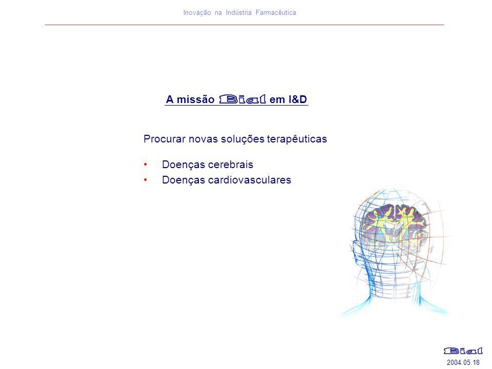 A missão em I&D Procurar novas soluções terapêuticas.