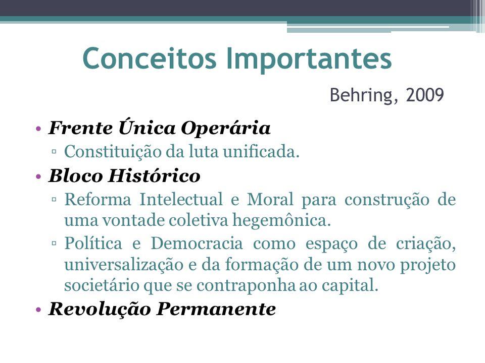 Conceitos Importantes Behring, 2009