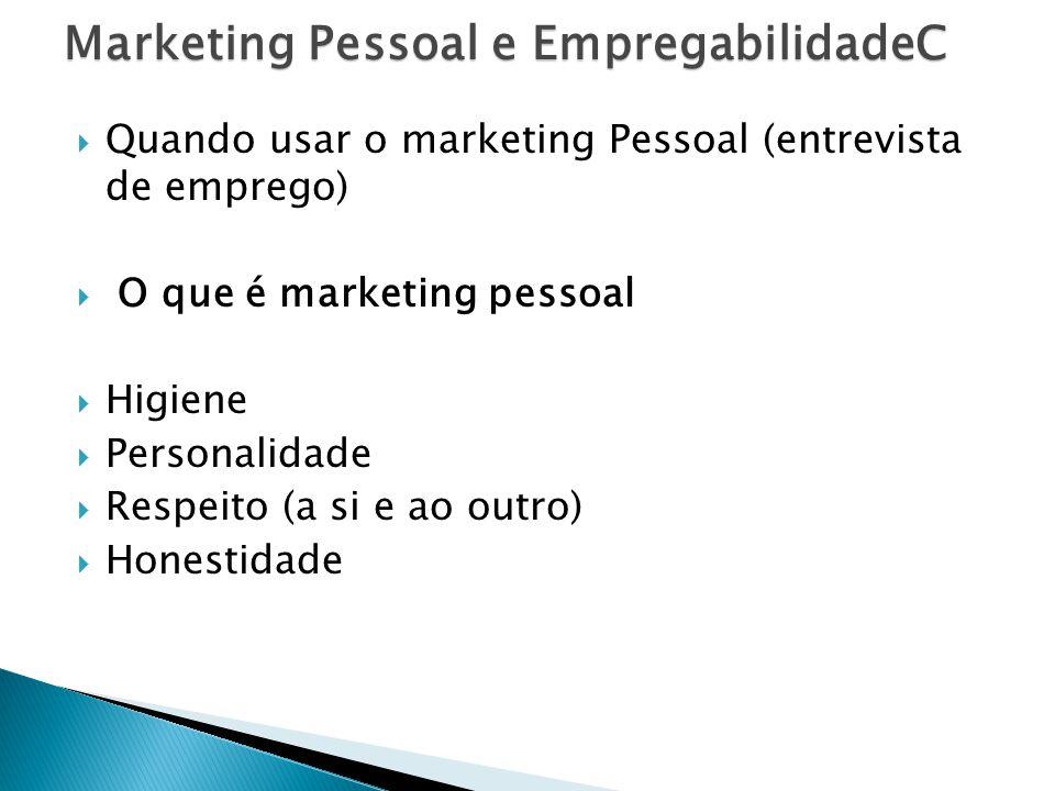Marketing Pessoal e EmpregabilidadeC