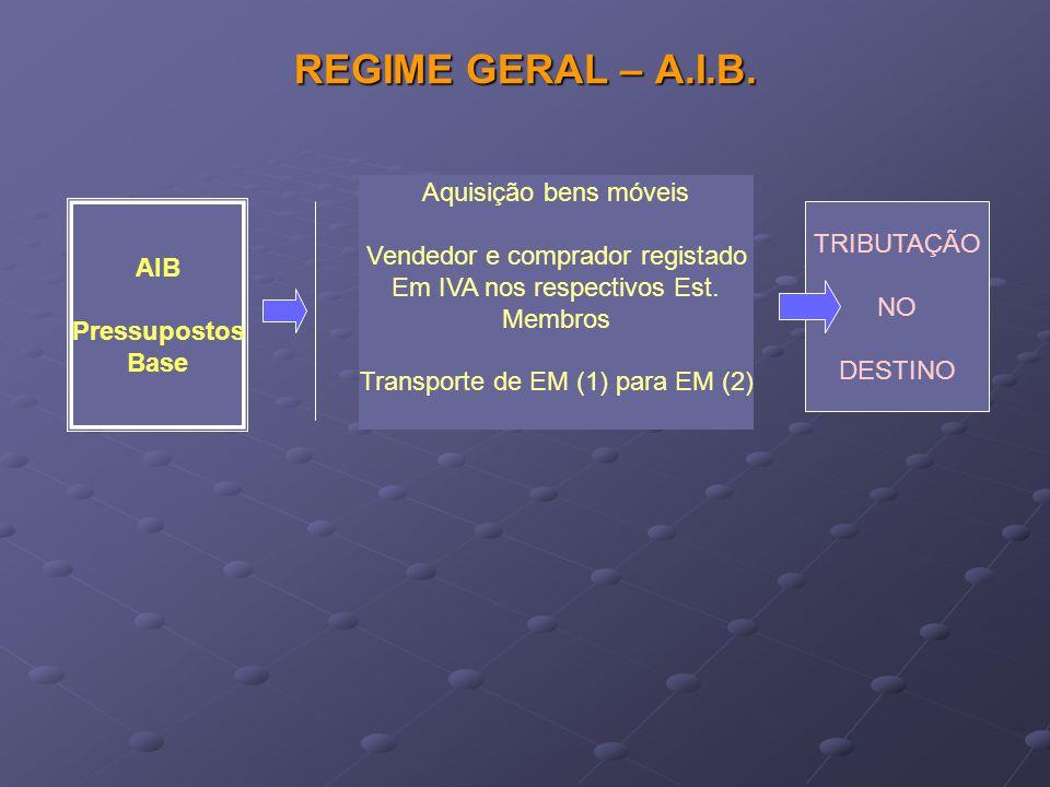 REGIME GERAL – A.I.B. Aquisição bens móveis