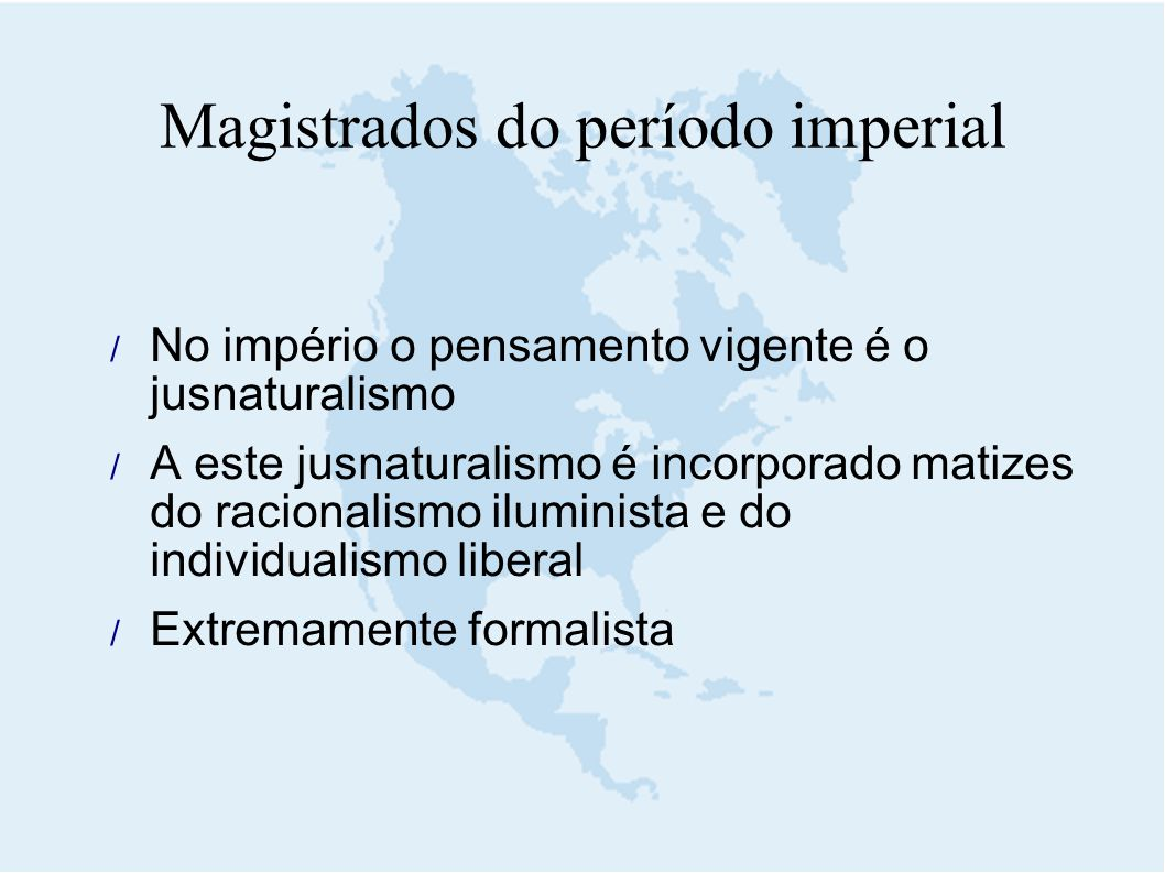 Magistrados do período imperial