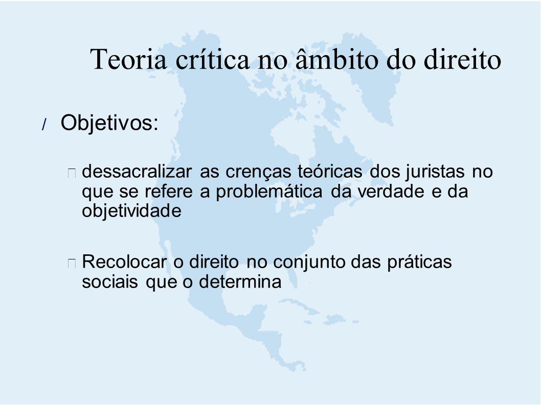 Teoria crítica no âmbito do direito
