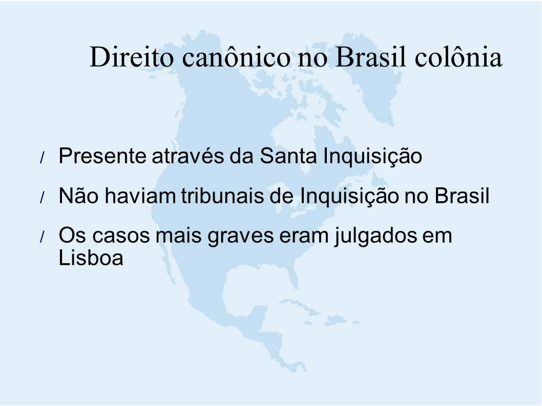 Direito canônico no Brasil colônia