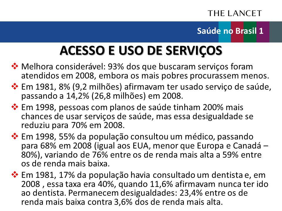 ACESSO E USO DE SERVIÇOS