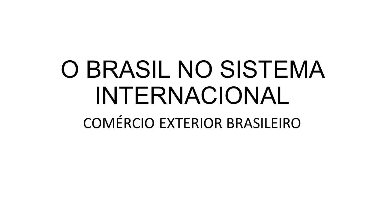 O BRASIL NO SISTEMA INTERNACIONAL