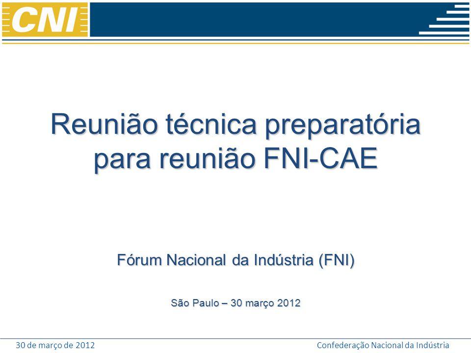 Reunião técnica preparatória para reunião FNI-CAE