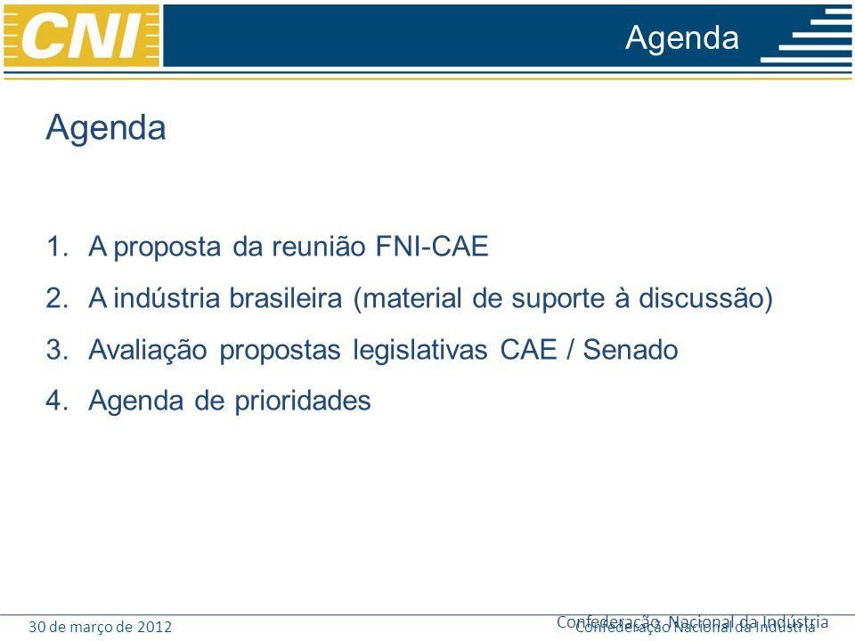 Agenda Agenda A proposta da reunião FNI-CAE