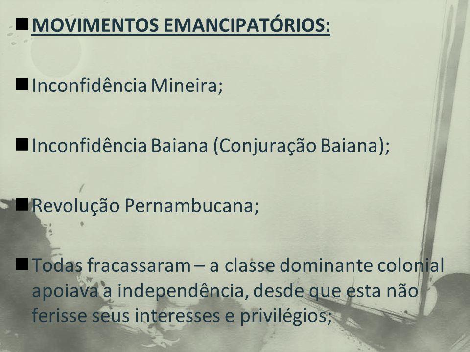MOVIMENTOS EMANCIPATÓRIOS: