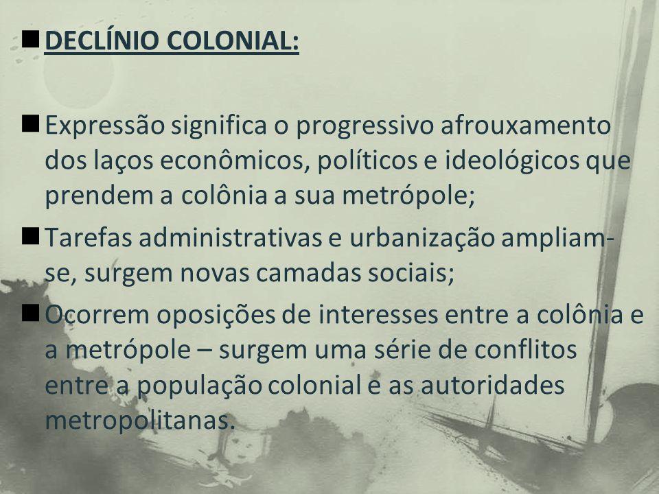 DECLÍNIO COLONIAL: