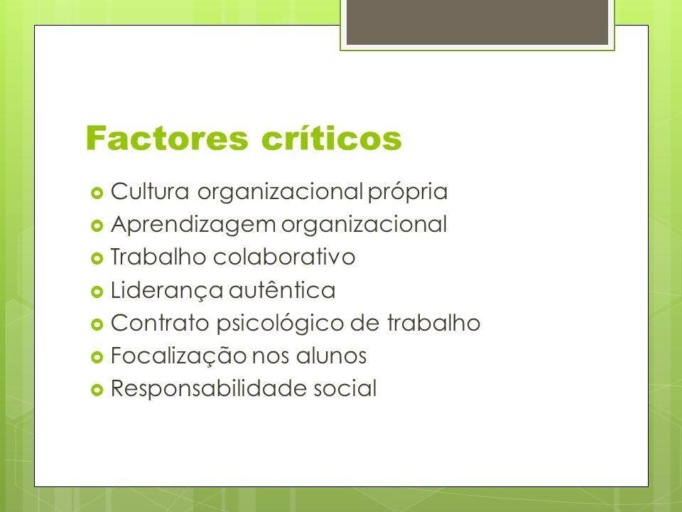 Factores críticos Cultura organizacional própria