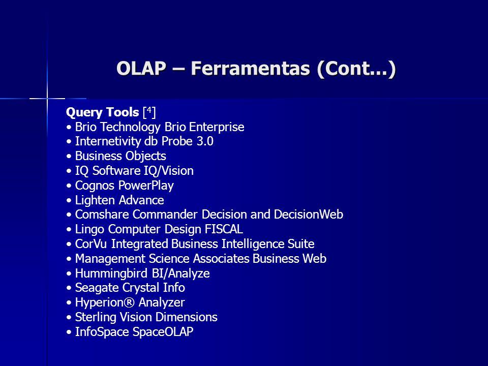 OLAP – Ferramentas (Cont...)