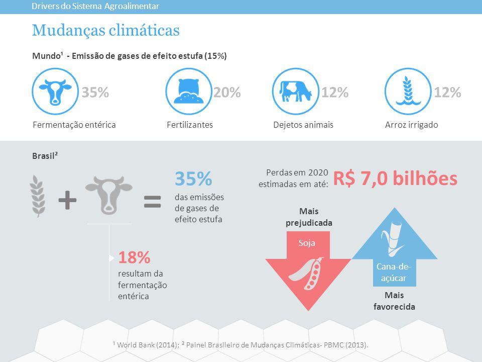 + = 35% R$ 7,0 bilhões 18% Mudanças climáticas 12% 35% 20% 12%
