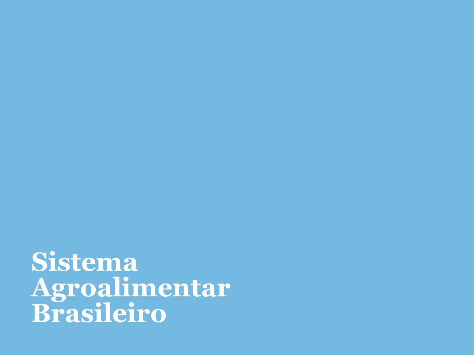 Sistema Agroalimentar Brasileiro