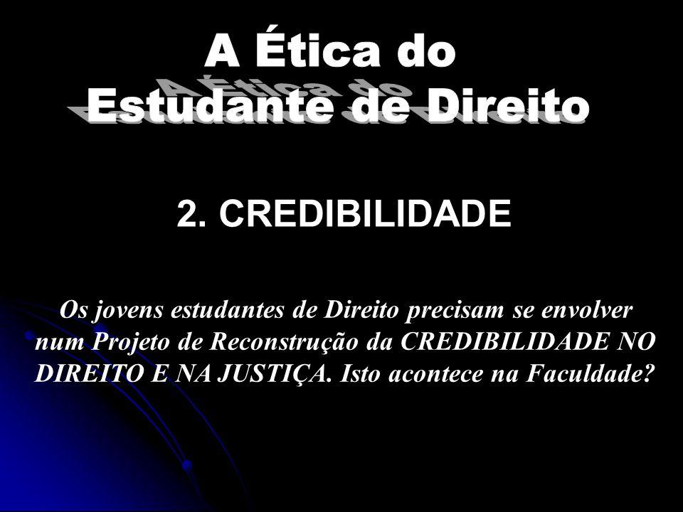 2. CREDIBILIDADE A Ética do Estudante de Direito