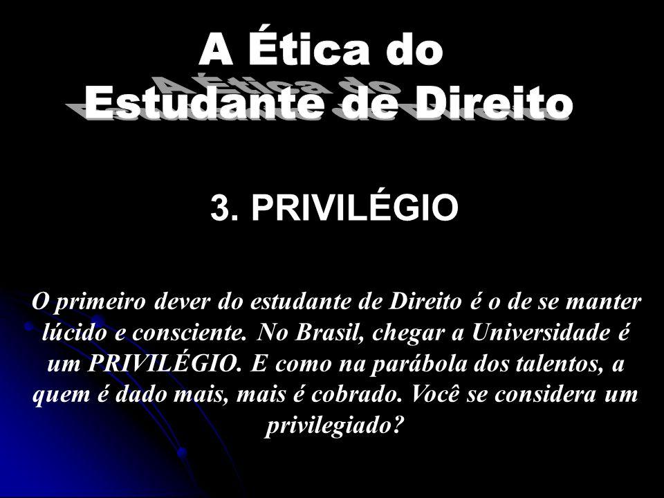 3. PRIVILÉGIO A Ética do Estudante de Direito