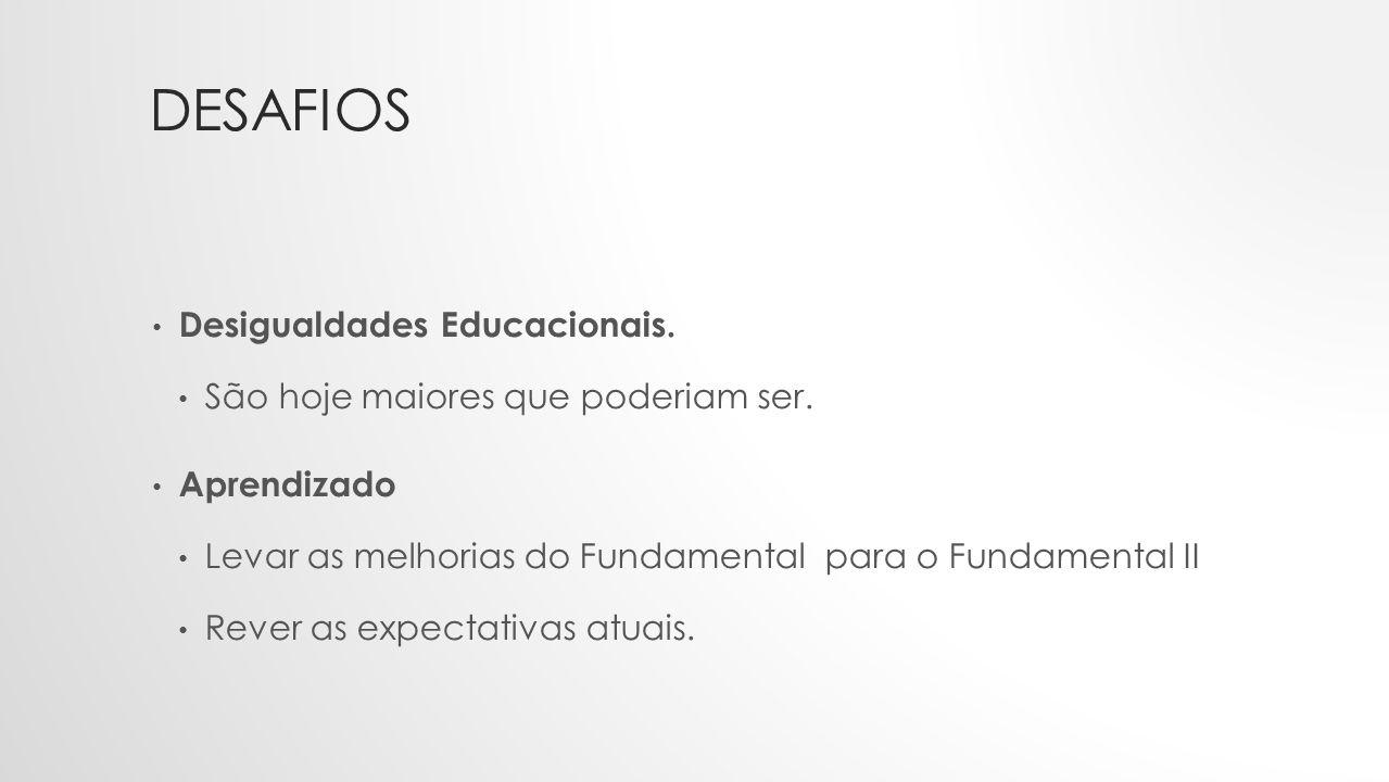 DESAFIOS Desigualdades Educacionais.