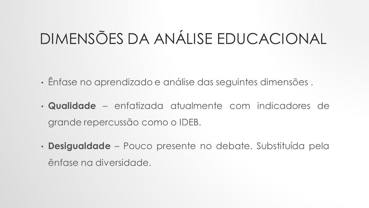 Dimensões da análise educacional