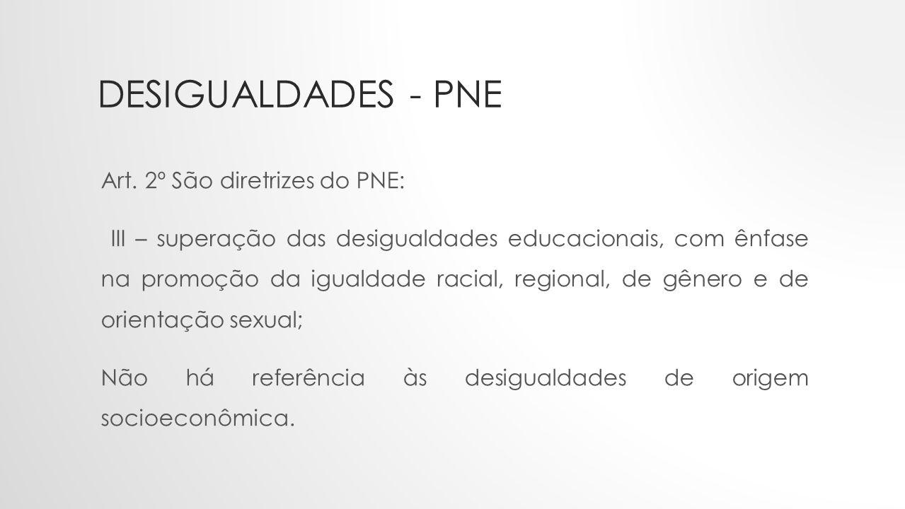 Desigualdades - PNE