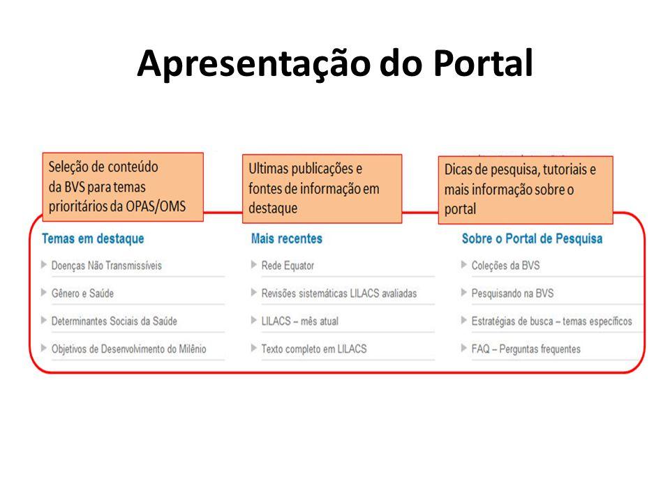 Apresentação do Portal