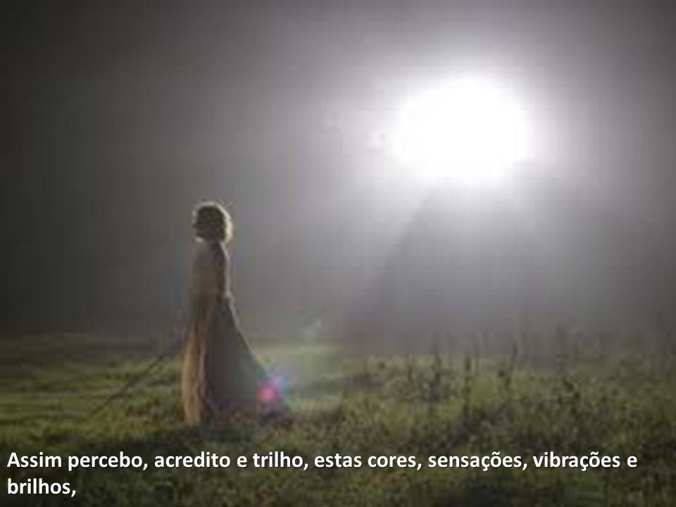Assim percebo, acredito e trilho, estas cores, sensações, vibrações e brilhos,