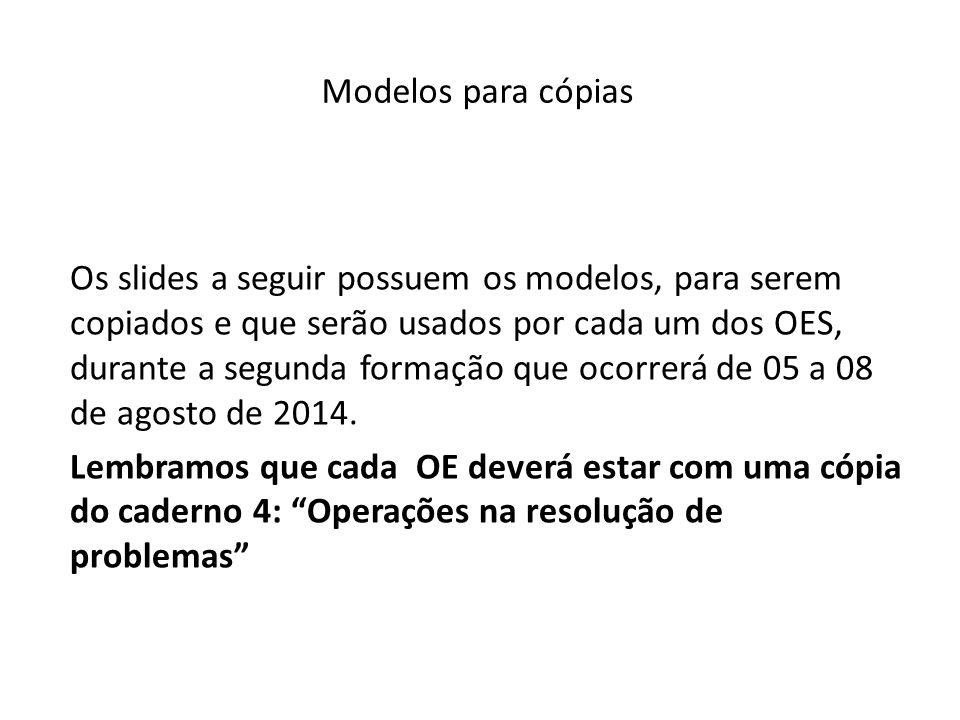 Modelos para cópias
