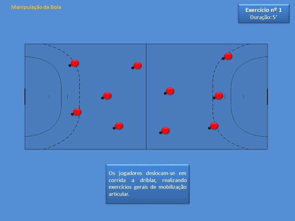 Exercício nº 1 Manipulação da Bola Duração: 5'