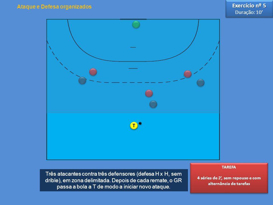 Exercício nº 5 Ataque e Defesa organizados Duração: 10' T