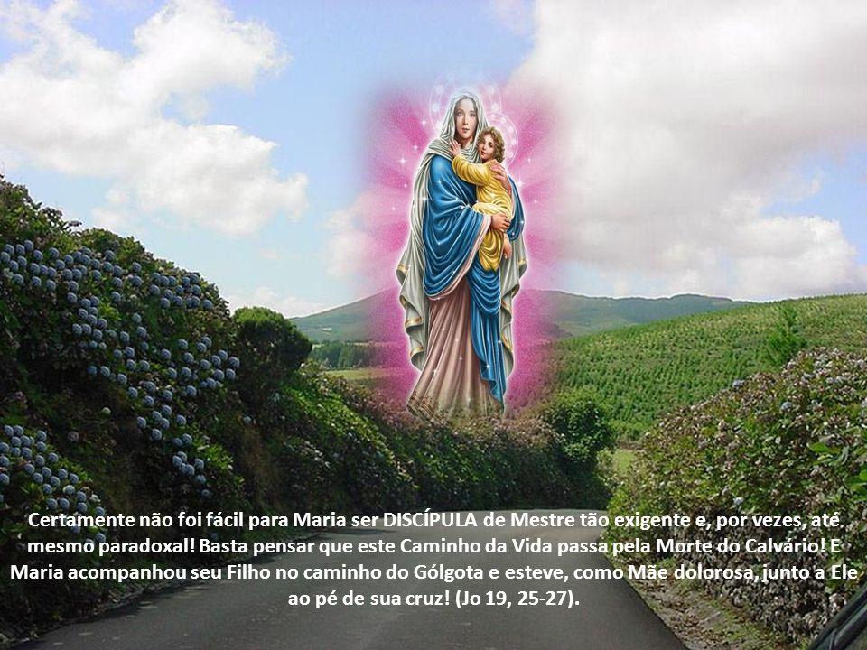 Certamente não foi fácil para Maria ser DISCÍPULA de Mestre tão exigente e, por vezes, até mesmo paradoxal.