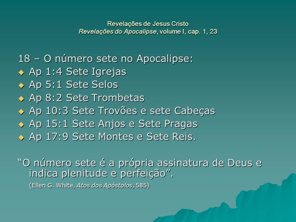 18 – O número sete no Apocalipse: Ap 1:4 Sete Igrejas