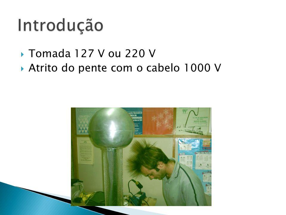 Introdução Tomada 127 V ou 220 V Atrito do pente com o cabelo 1000 V