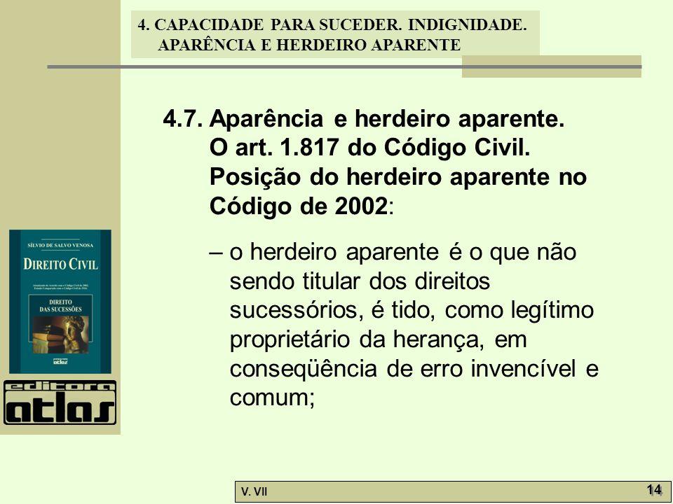 4.7. Aparência e herdeiro aparente.