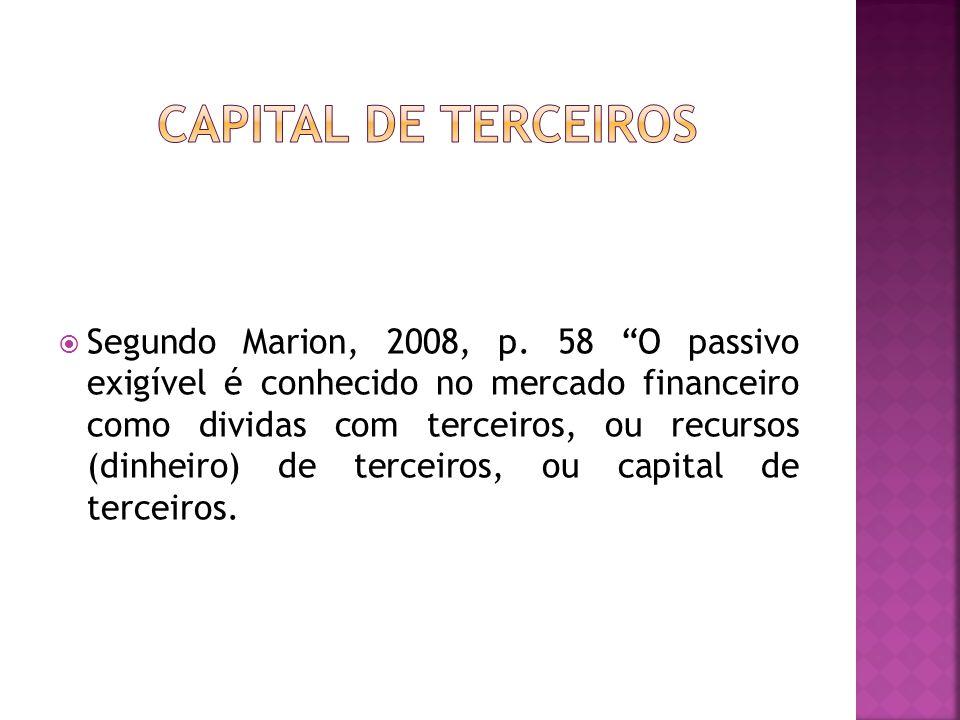 CAPITAL DE TERCEIROS