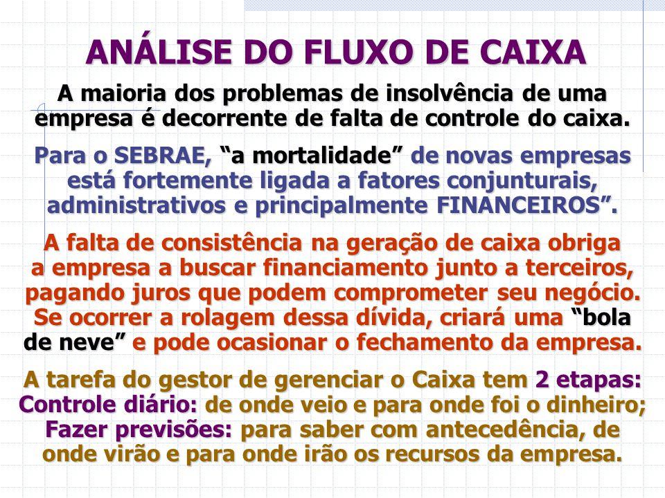 ANÁLISE DO FLUXO DE CAIXA