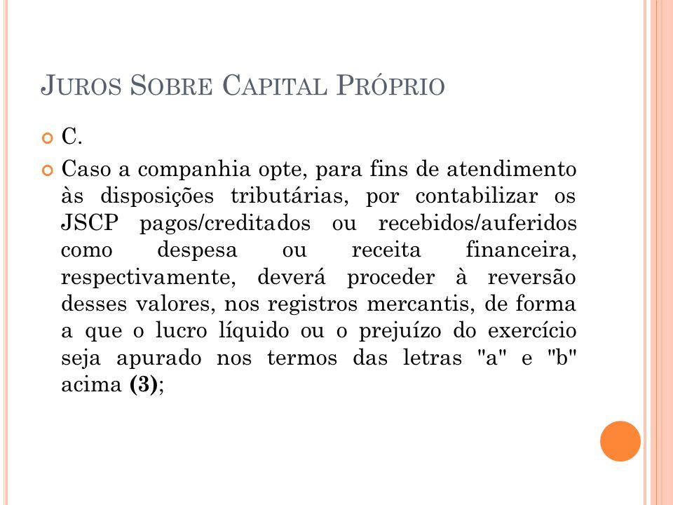 Juros Sobre Capital Próprio