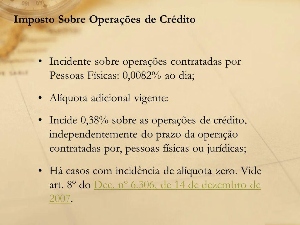 Imposto Sobre Operações de Crédito